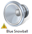 Blue Snowball Warning